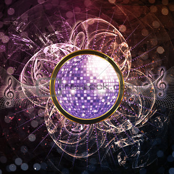 Abstract disco background