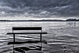 Bench on the lake of Varese