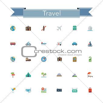 Travel Flat Icons