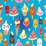 multicolored pattern funny ice cream