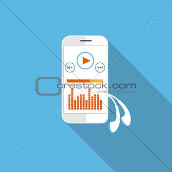 Smartphone music player