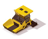Vector isometric asphalt paver