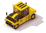 Vector isometric pneumatic road roller