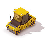 Vector isometric road roller