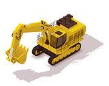 Vector isometric mining excavator