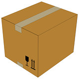 Carton box. Vector illustration