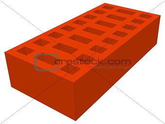 Brick on white. Vector illustration