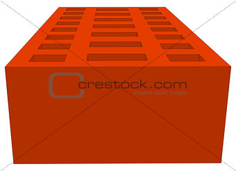Brick on white. Vector illustration