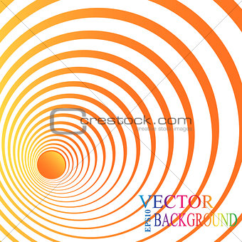 3d perspective circle background. Vector illustration.
