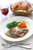 saltimbocca alla romana, italian cuisine