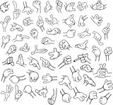 Cartoon Hands Pack Lineart 1