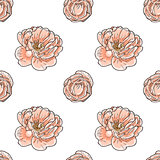 Briar rose color sketch seamless