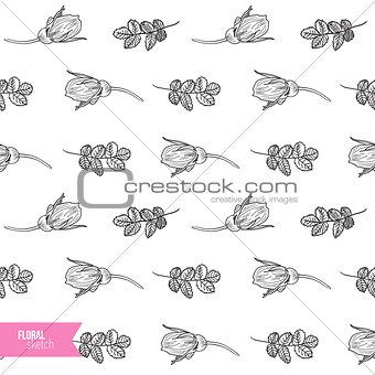 Briar rose sketch seamless