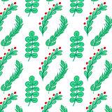 Green branch seamless
