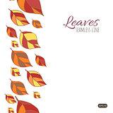 Leaves seamless line