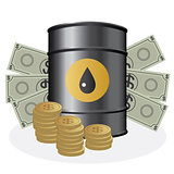 Oil with money.