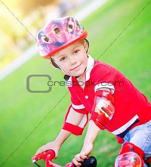 Little boy on bicycle