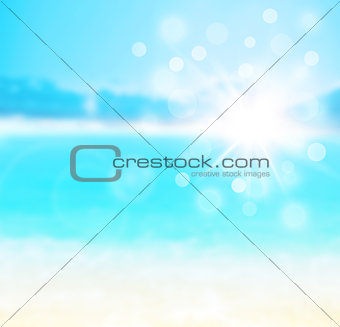 Blue blur natural abstract background