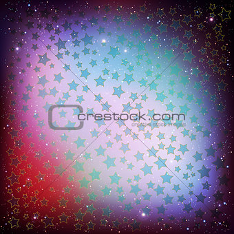 abstract christmas background blue stars