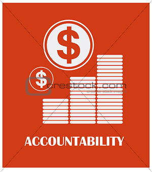 Accountability poster design with typography