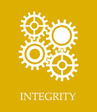 Integrity poster design with typography
