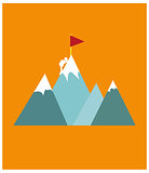Mountain climber poster design