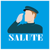 Icon of a forces personal saluting