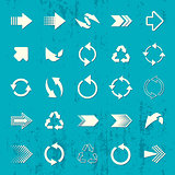 Arrow sign icons retro collection