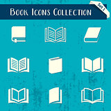 Book icons retro collection