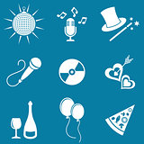 Party and entertainment icons