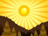 Abstract sunny landscape theme 2