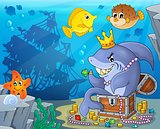 Shark with treasure theme image 3