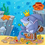 Shark with treasure theme image 4