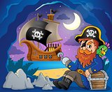 Sitting pirate theme image 7