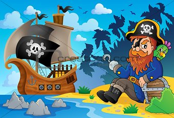 Sitting pirate theme image 8