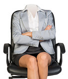 Young woman body sitting in chair