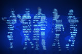 Abstract silhouette of businesspeople