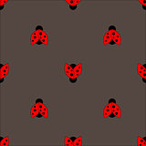 Ladybug seamless pattern abstract texture