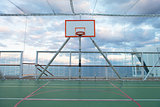 Netted Basketball Court