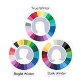 Winter type color palletes