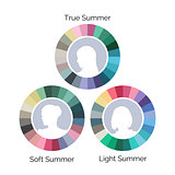 Summer type color palletes