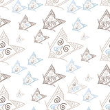 Seamless pattern with hand-drawn arrows