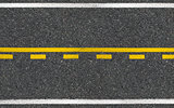 Asphalt high way road top view