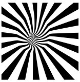 tunnel vortex in concentric black and white stripes