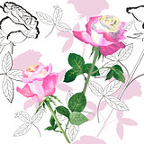Seamless pattern with roses-08