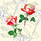 Seamless Pattern with Rose-04