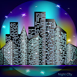 Night city light