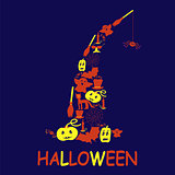 Halloween design from filled elements