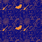 Dark halloween seamless pattern