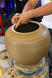 Potter making